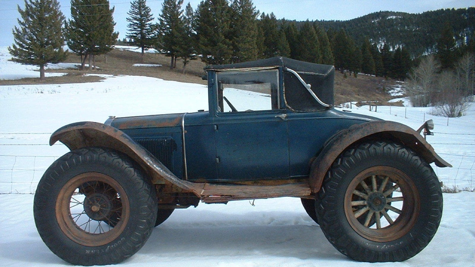 The Oral History Of An Amazing 1930 Ford Model A Off Road Mail Truck Chevy Sedan Spare Tire Mount