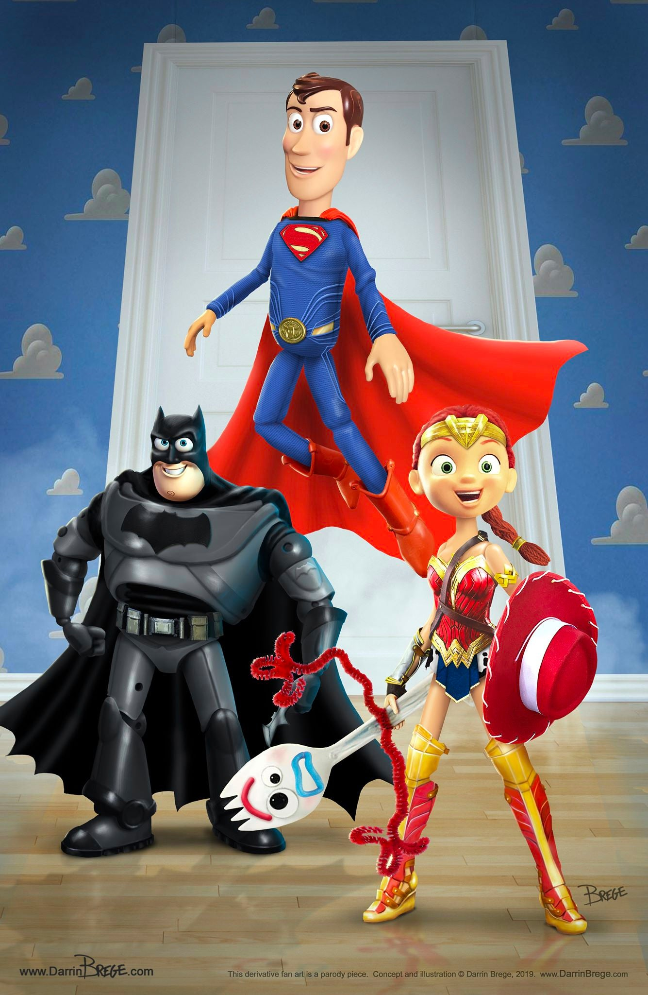 Fan Mashup Merges Toy Story 4 and Justice League Characters