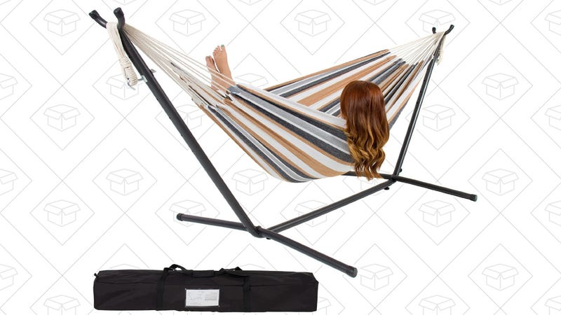 Double Hammock With Stand, $60 with code SUMMER20