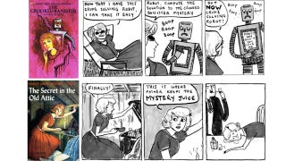 Illustration for article titled What's it like to write a webcomic about Jules Verne and Sexy Batman? Hark! A Vagrant's Kate Beaton tells us