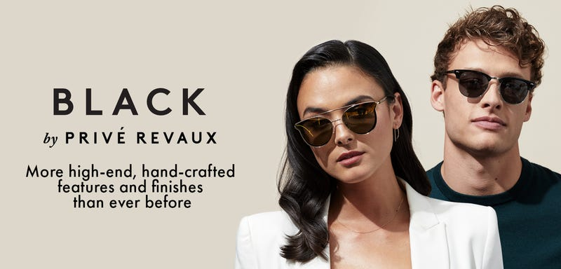 25% Off Two Black Collection Glasses | Privé Revaux | Add any two frames to cart and use code black25