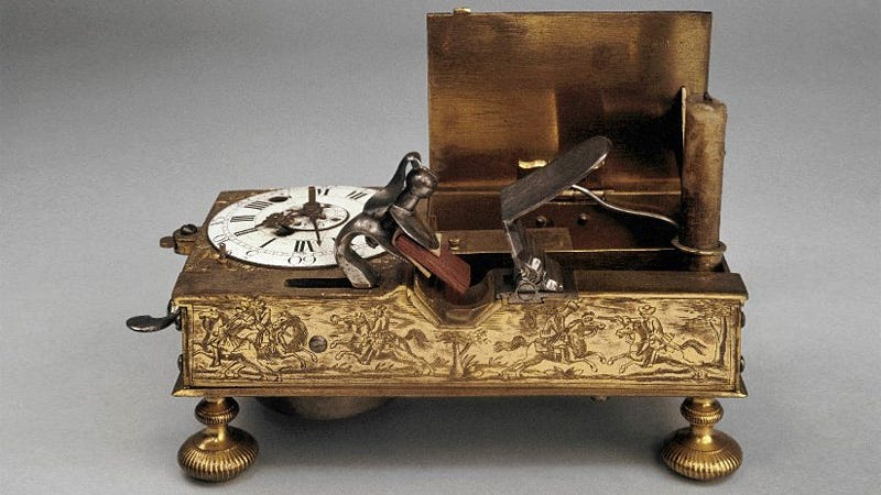 Illustration for article titled Was This the World's First Wake-Up Light Alarm Clock?