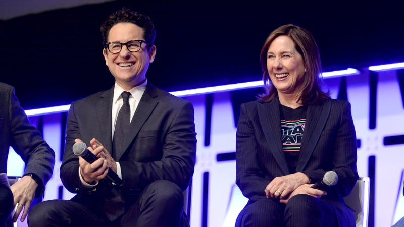 J.J. Abrams and Kathleen Kennedy at this year's Star Wars Celebration.