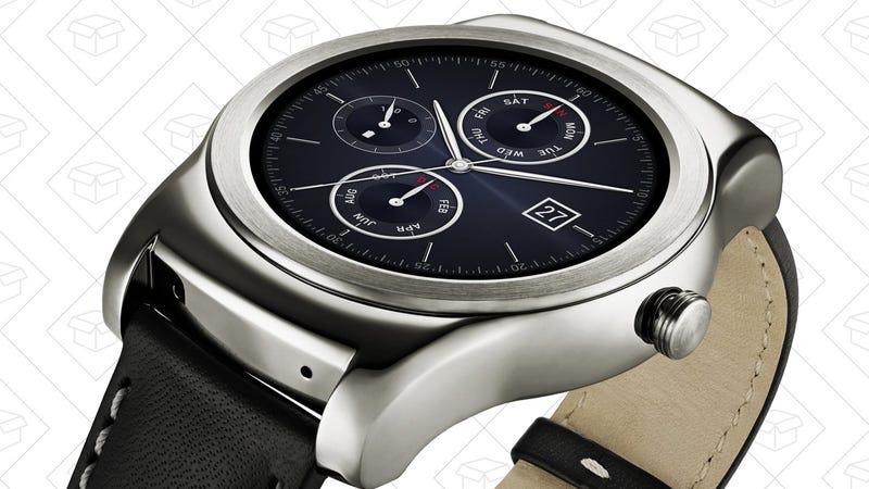 LG Watch Urbane, $99. Discount shown in cart.