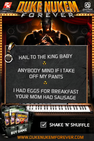 Illustration for article titled Duke Nukem Had Eggs For Breakfast, Your Mom Had Sausage