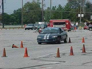Illustration for article titled I have no crash test for you so have a random picture of a Dodge Intrepid at autocross