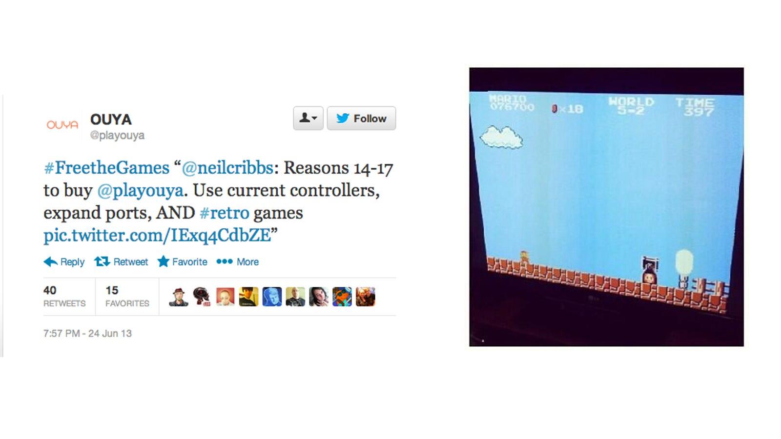 Ouya Provokes Piracy Argument with Retweet Touting Emulation