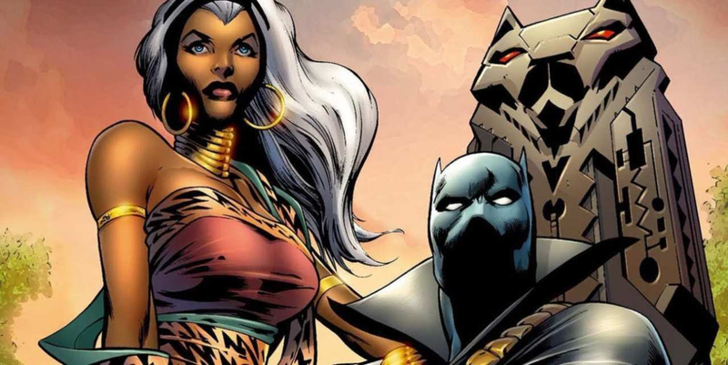 Storm and the Black Panther, King and Queen of Wakanda (and our hearts).