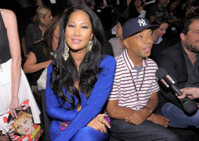 Kimora Lee Simmons and Russell Simmons at the Z Spoke by Zac Posen Spring 2011 fashion show during Mercedes-Benz Fashion Week at the Theater at Lincoln Center on Sept. 11, 2010, in New York City (Michael Loccisano/Getty Images for IMG)