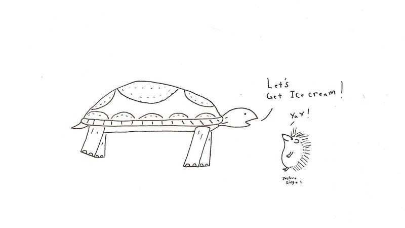 Illustration for article titled Tortoise and Hedgehog Plan an Outing