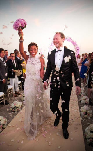Eve and Maximillion Cooper wed in Ibiza. Grafitti/E-News