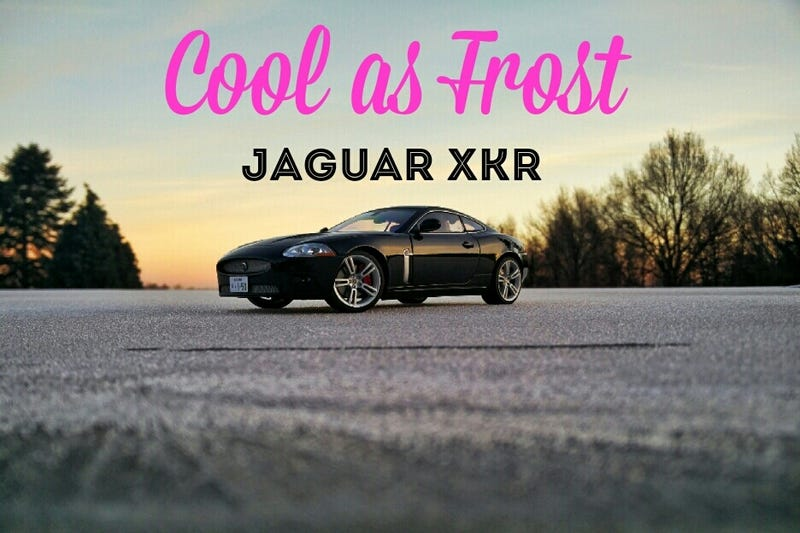 Illustration for article titled Cool as frost: The Jaguar XKR - 1:18 Autoart