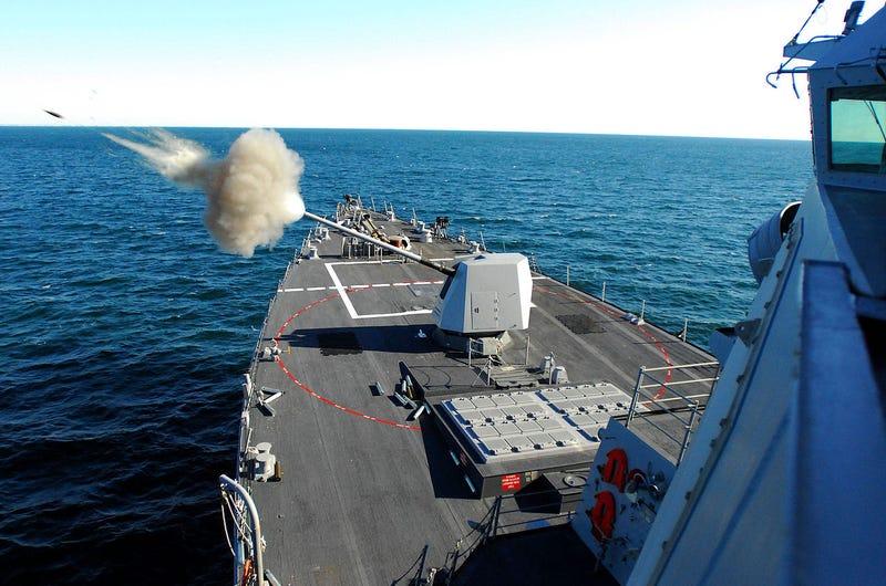 Illustration for article titled Even Prouder: Mark 45 Mod 4, 5-inch Naval Gun