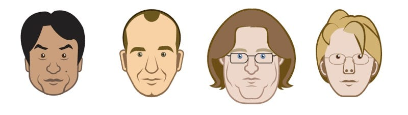 Illustration for article titled Can You Name These Famous Game Designer Faces?