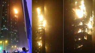 Illustration for article titled Se incendia en Dubái uno de los rascacielos más altos del mundo