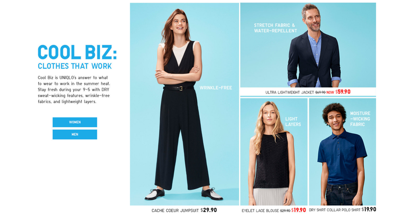 Free shipping on all Uniqlo orders