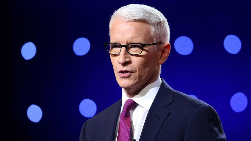 Illustration for article titled Anderson Cooper Begins Debate By Giving Trump Opportunity To Explain What The Fuck Is Wrong With Him