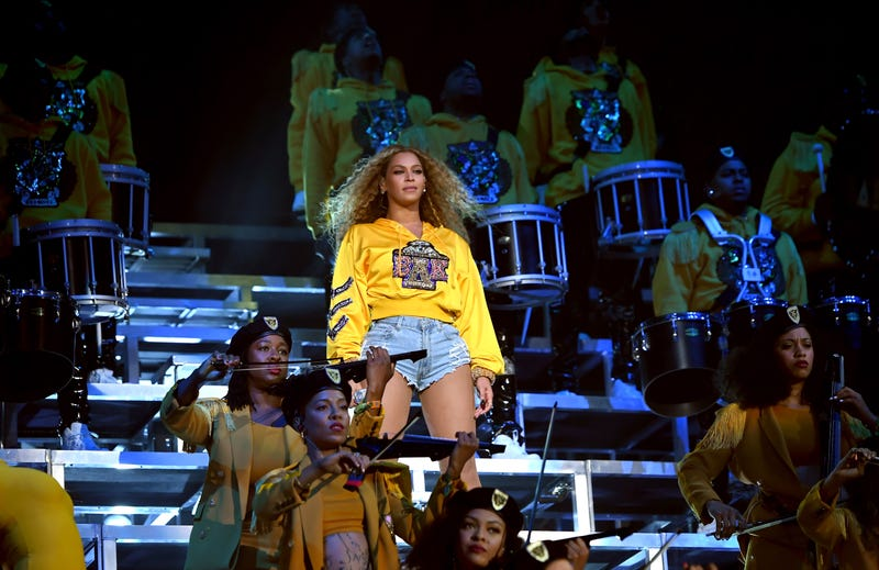 Beyoncé performs during 2018 Coachella Valley Music And Arts Festival Weekend 1 at the Empire Polo Field on April 14, 2018, in Indio, Calif.