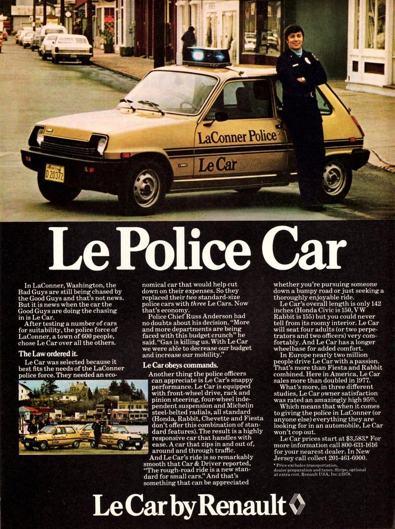 Illustration for article titled LaConner Le Police Car