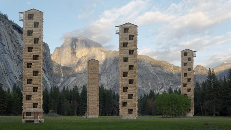 Illustration for article titled Yosemite Expands Lodging Accommodations With New Log Cabin High-Rises