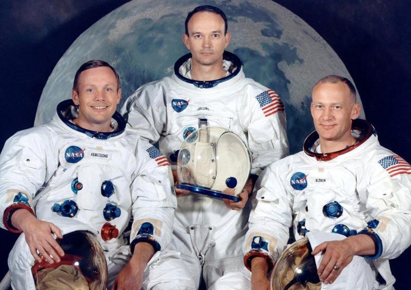 Illustration for article titled Por qué fue Neil Armstrong el primer hombre en pisar la Luna, y no Buzz Aldrin o Michael Collins