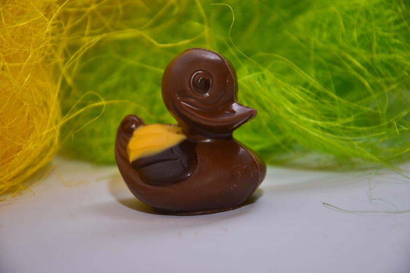 The labeling of a chocolate duck like this one was the source of controversy for a U.K. grocery chain.