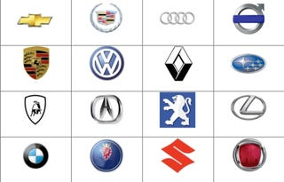 Illustration for article titled How Fast Can You Name Automaker Logos?