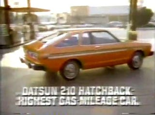 Illustration for article titled Put Your Money In The Bank, Not In The Tank: 1979 Datsun 210 Hatchback