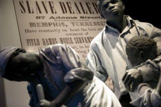 """Models of slaves are seen in the """"American Enterprise"""" exhibition at the Smithsonian's American History Museum June 11, 2015, in Washington, D.C.BRENDAN SMIALOWSKI/AFP/Getty Images"""