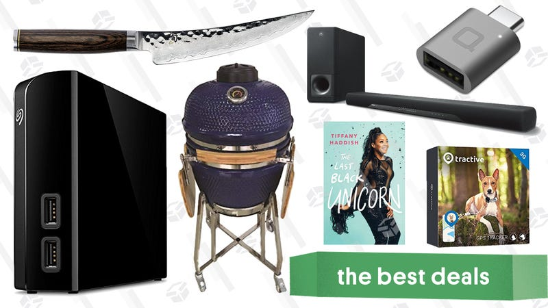 Illustration for article titled Sunday's Best Deals: Kamado Grill, External Hard Drive, Hotel-Style Sheets, and More