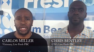 Carlos Miller and Chris Bentley, founders of Live FRESH Palm Beach CountyScreenshot