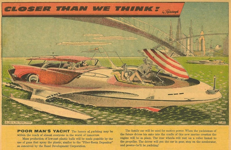 Illustration for article titled Everyone Was Supposed to Own a Yacht By Now, According to Futurists of the 1950s