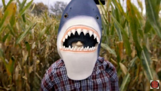Sharks of the Corn s Trailer Is Propelled by Ultra Low-Budget Goofballery