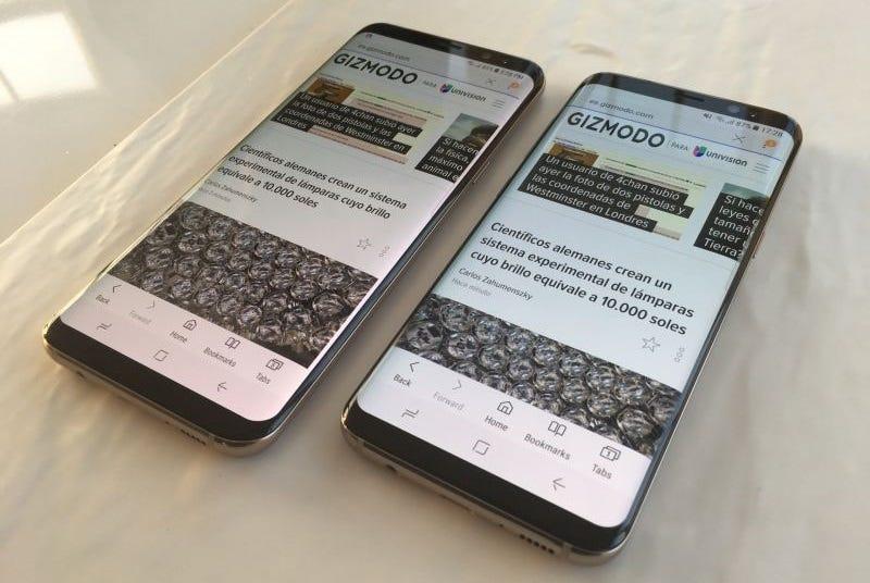 Illustration for article titled Samsung solucionará el fallo de las pantallas de algunos Galaxy S8 que decían que no era un problema real