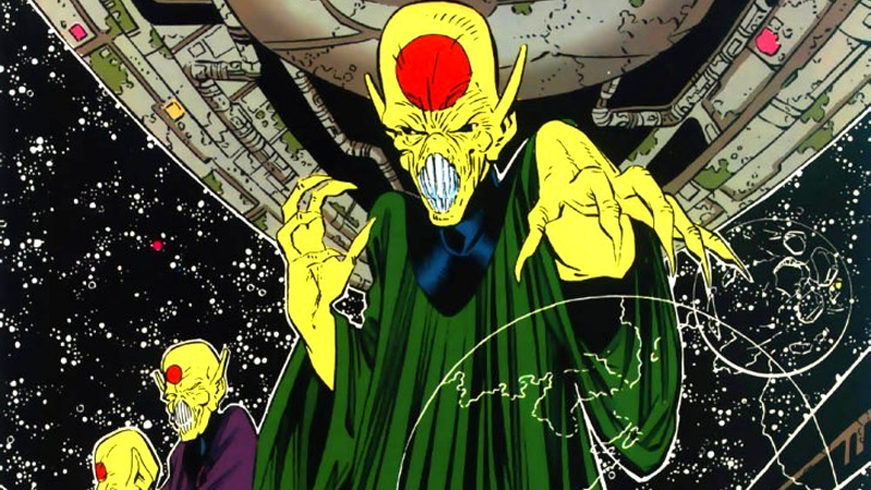 The Dominion as it appears in Who's Who in the DC Universe #1. Art by Chris Sprouse, Colors by Tom McCraw.