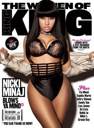 Illustration for article titled Nicki Minaj Gets Ever-So-Slightly Airbrushed For King Magazine