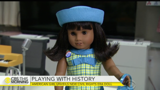 The Melody Ellison doll, representing the civil rights era, will be released late this summer.CBS News screenshot