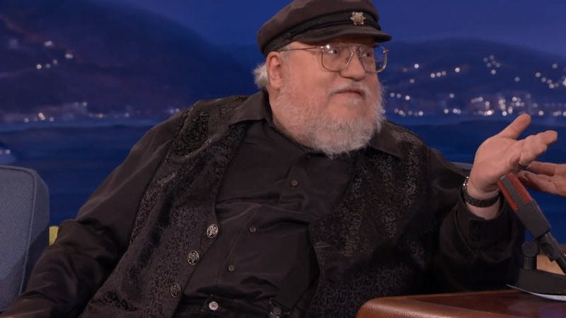 Illustration for article titled George R.R. Martin isn't saying there will be eight Game Of Thrones books, at least until he is
