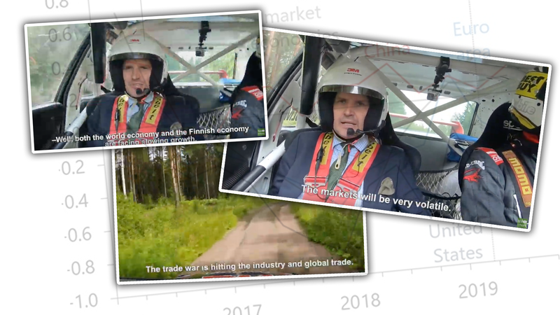 Illustration for article titled Finnish Economist Delivers Economic Outlook Report In The Most Finnish Way Possible: From Inside A Rally Car