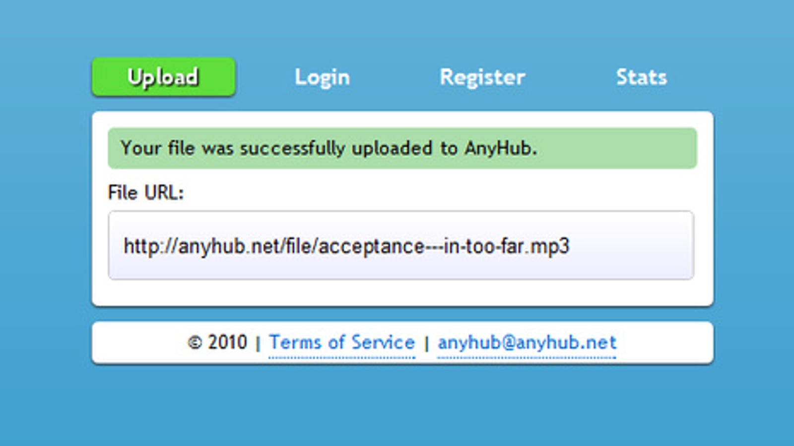 AnyHub Is a No-Fuss File Uploader