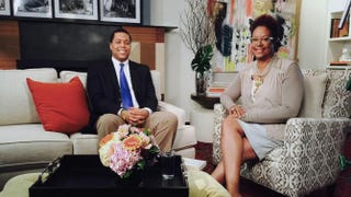 Ryan Mack with The Root's contributing editor Harriette Cole