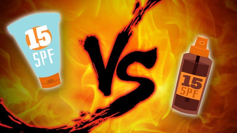 Illustration for article titled Sunscreen Showdown: Creams vs. Sprays