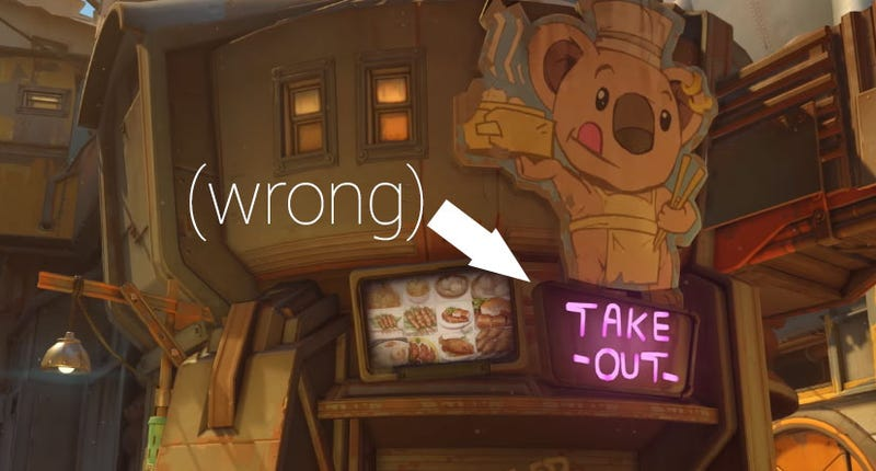 "Illustration for article titled Blizzard Fixes ""Culturally Insensitive"" (Not Really) Overwatch Sign"