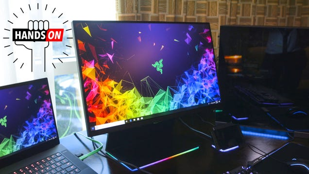 Razer s First Foray into Gaming Monitors is a Show Stopper