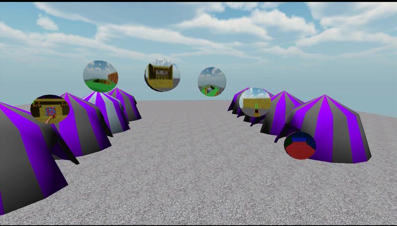 A screenshot of game's main screen.