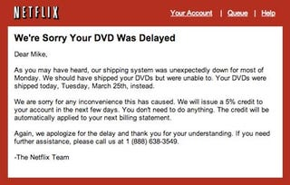 Illustration for article titled Netflix Doling Out 5 Percent Credit for Massive Monday Outage