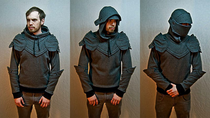 """Illustration for article titled Now Anyone Can Cosplay in This """"Armoured"""" Hoodie"""