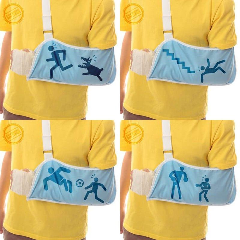 Illustration for article titled Illustrative Slings Show How That Arm Got Boned