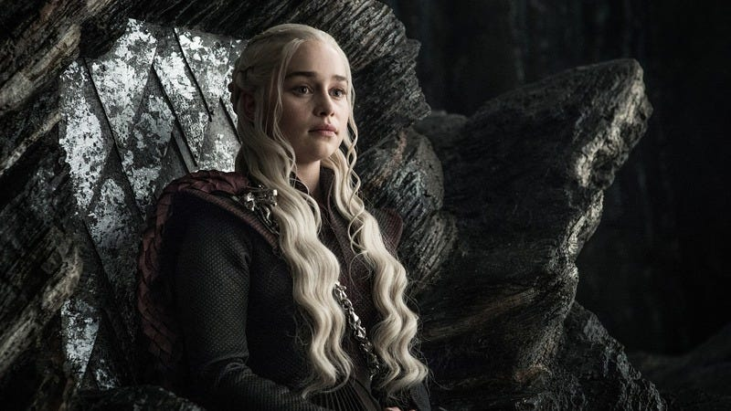 Queen Of The Seven Kingdoms and of the Andals and the First Men, khaleesi of the grass sea, harbinger of death but only to those who deserve it. (Photo: Helen Sloan/HBO)