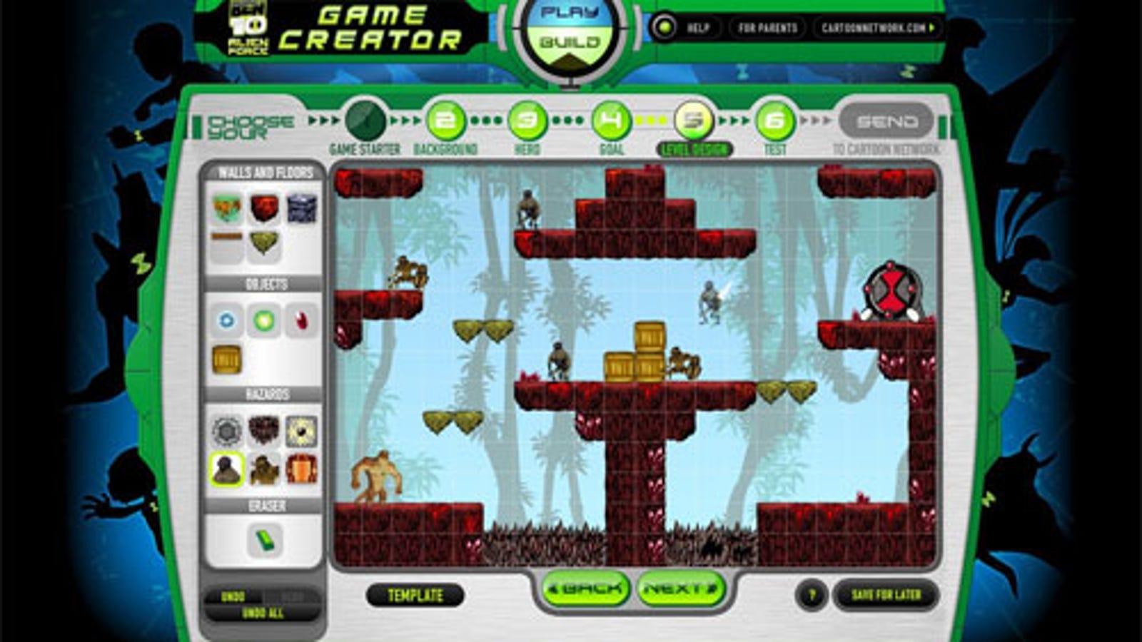 Ben 10 alien force game creator 2 cartoon network bombs games 2